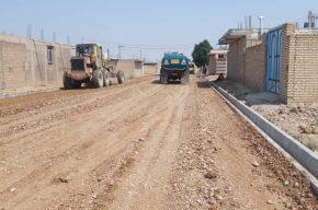 شروع عملیات زیرسازی و آسفالت خیابانهای کوی شهید جهان آرا شهر سرداران