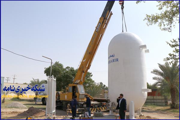 نصب مخزن اکسیژن مایع بیمارستان خاتمالانبیا