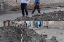 اصلاح شبکه آب شرب خیابان مسجد جامع شوشتر