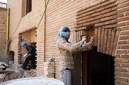 مرمت چهارباب خانه تاریخی در شوشتر در حال انجام است
