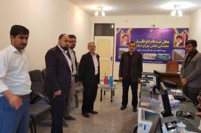 فرماندار شوشتر از محل ثبت نام کاندیدای انتخابات مجلس شورای اسلامی بازدید کرد