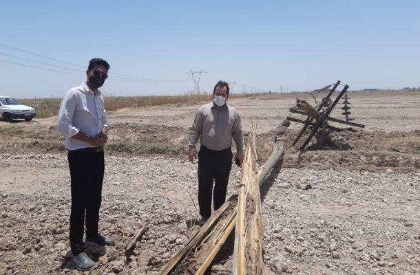 سقوط ۷ پایه برق در شعیبیه؛ امدادرسانی در کوتاهترین زمان