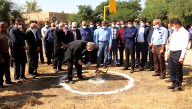 عملیات احداث مدرسه خیرساز در ترکالکی گتوند آغاز شد